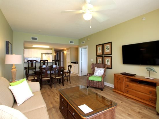 Living Area - Call for Summer Specials! FREE Beach Chair Service in our 3 bedroom on the 15th floor at Calypso Resort & Towers! - Panama City Beach - rentals