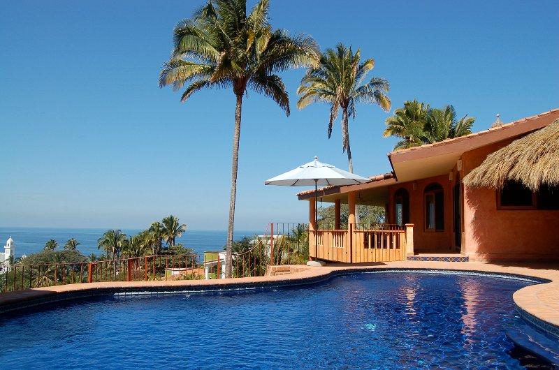 Ocean view, pool terrace - Casa Vista del Mar - Ocean View! - San Pancho - San Pancho - rentals