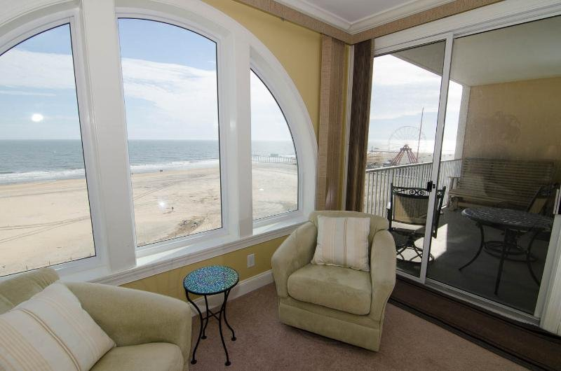 Ocean View from Master Bedroom - Belmont Towers 804 - Belmont Towers 804 - Overlooks Boardwalk! - Ocean City - rentals