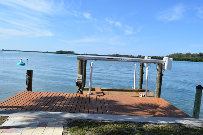 View of the water from boat dock & slip - Private Waterfront Mobile Home - Englewood - rentals