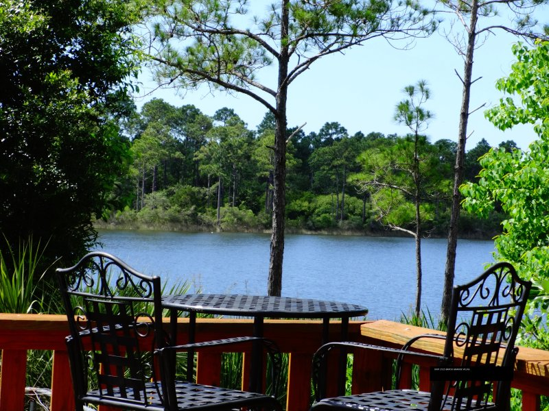 Picturesque bar stools and table with deck water view unit 2515 - FALL SPECIAL! PIER WATERVIEW POOL NR PRIVATE BEACH - Pensacola - rentals