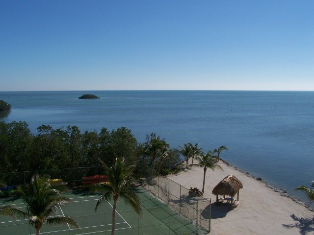 Your view from your private balcony - 24/7 - Oceanfront End Unit, Great Water Views, Pool, WiFi - Islamorada - rentals
