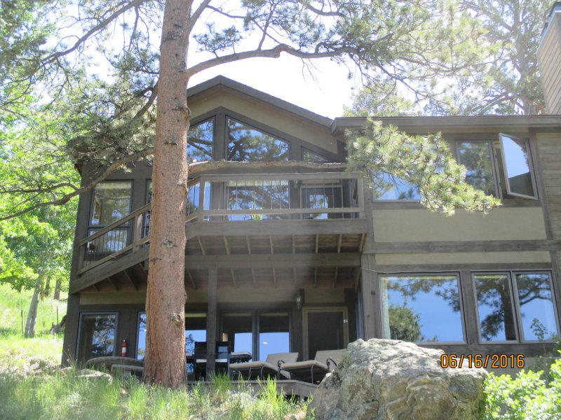 Front of property (faces west) - Miller North/Cairn 8440 in Windcliff Estates. - Estes Park - rentals
