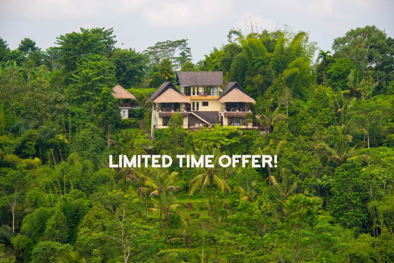 Front view Hillside Eden - Hillside Eden, Stunning 5* Service, Amazing Views! - Ubud - rentals