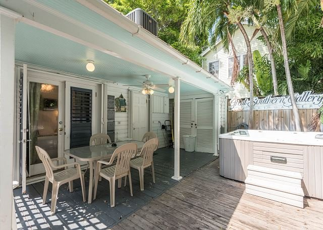 Outdoor living has never been better when you have a private hot tub - Amelia House- Private Hot Tub, Half Block To Duval St - Sleeps 8! - Key West - rentals