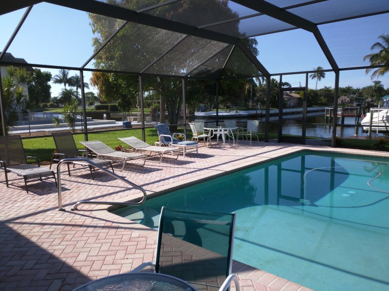 Pool Area - 2 Bedroom Pool Home On Intersecting Canal #1 - Cape Coral - rentals