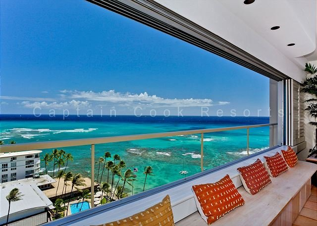 Ocean and Diamond Head views from this Beachfront Vacation Rental - Image 1 - Waikiki - rentals