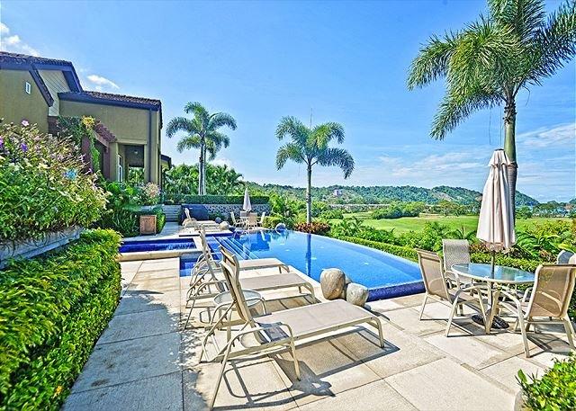 Pool area at the Villa overlooking the resort. - Amazing Luxurious Villa with view of the resort at Los Sueños! - Herradura - rentals