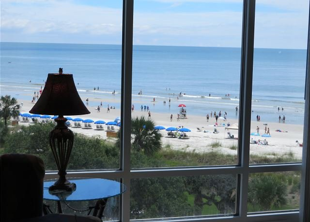 Living Area View - 1508 Villamare-5th Floor Awesome Oceanview - Hilton Head - rentals