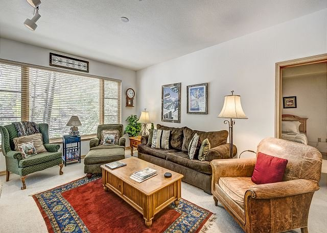 Living Room - 2BR Aspenwood Lodge Condo in Exclusive Gated Community in Arrowhead Village - Edwards - rentals