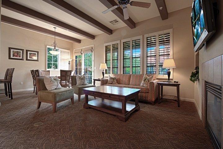 Living / Dining Areas - Legacy Villas -- Rare 3 Bedroom End Villa with Southern Mountain Views - La Quinta - rentals