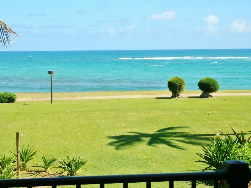View from our lanai - It's all About the View! Updated Oceanfront Condo - Kapaa - rentals