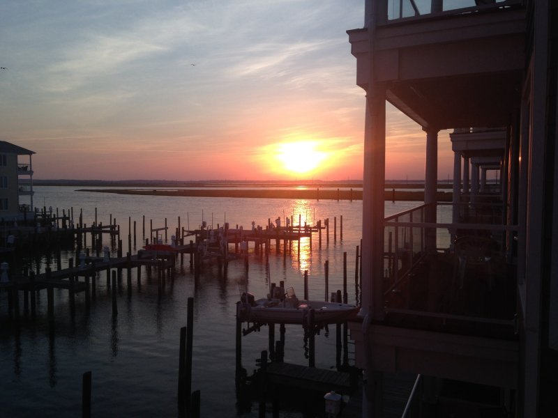 Sunset View from Deck of Unit 213 - Sunset Bay Villas - Sunset in Paradise - Chincoteague Island - rentals