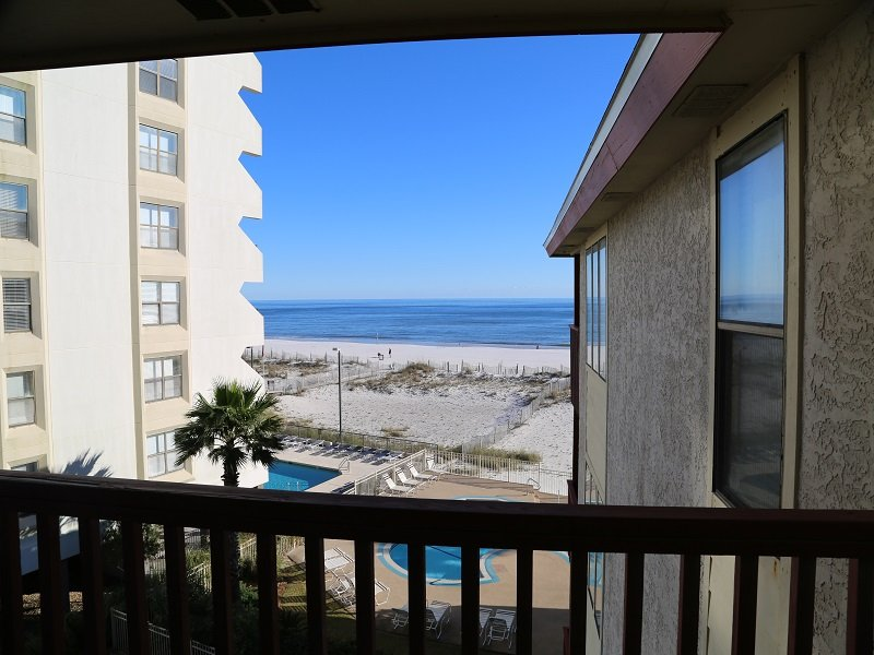 View from private balcony - Southern Sands 303 - Close to Town with Gulf View - Gulf Shores - rentals