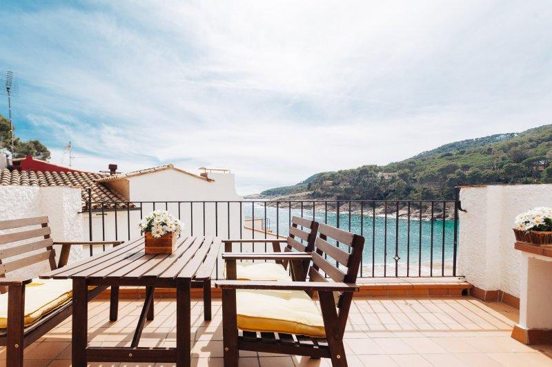 Terrace with Barbaque - Tamariu Beach 2 - Tamariu - rentals
