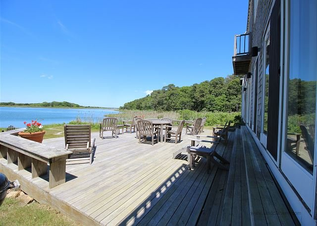 FABULOUS WATERFRONT HOME OVERLOOKING LAKE TASHMOO TO THE VINEYARD SOUND - Image 1 - Vineyard Haven - rentals