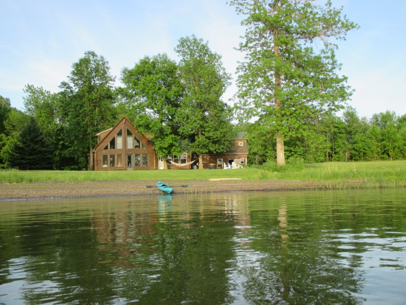 Cabin from a kayak out on the lake (2016) - SUMMER FILLING IN FAST - BOOK NOW !!! - North Hero - rentals