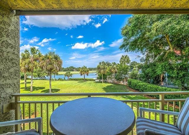 Patio View - 1809 Bluff Villas-Available Starting 7/30. Steps to Beach, Marina & Pool - Hilton Head - rentals
