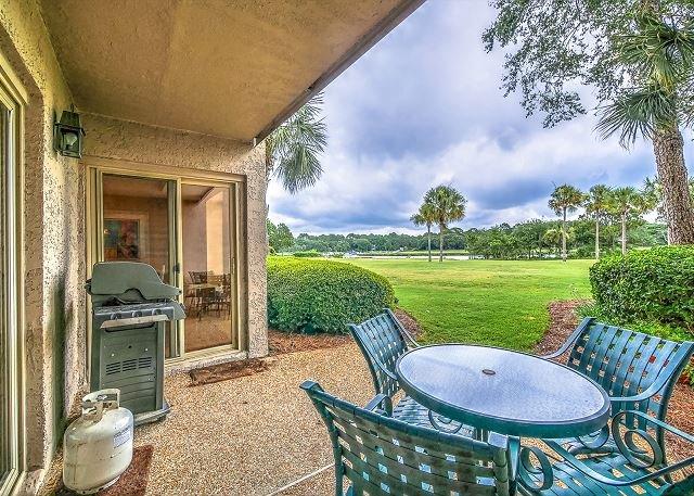 Patio/View - 1726 Bluff-Fully Renovated 1st Floor Villa w/ Cove View & Quick walk to beach - Hilton Head - rentals