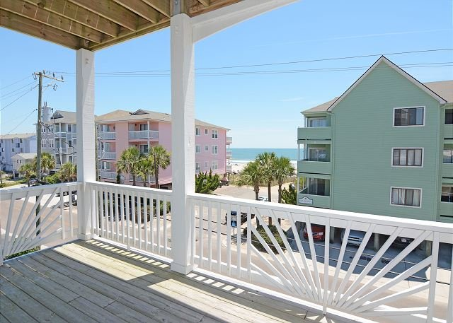 Cool Surf - Upper ocean side deck - Cool Surf - 5 Bedroom Oceanview Duplex Sleeps 12 - Carolina Beach - rentals