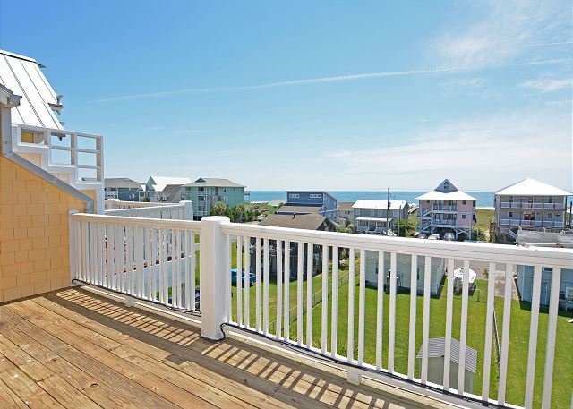 Lucky Enough - Ocean views from upper deck - Lucky Enough - Lovely ocean and sound views from this condo in Carolina Beach - Carolina Beach - rentals