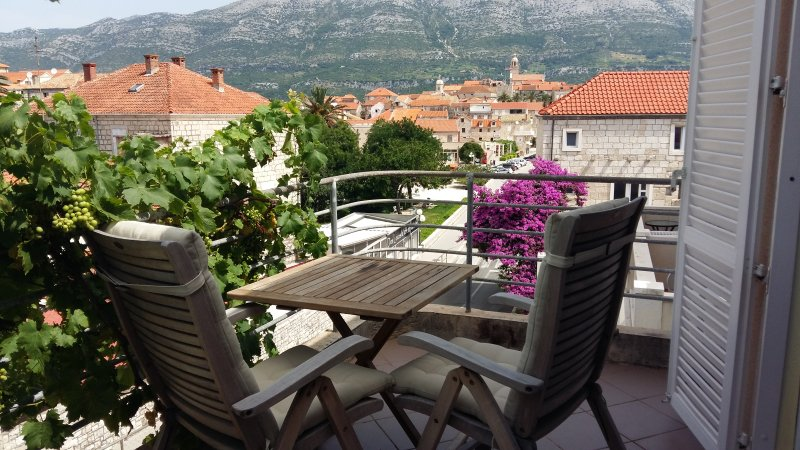 Balcony - Room in the center of Korcula town - Yellow - Korcula Town - rentals