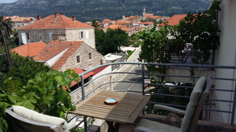 Balcony - Room with a view on the old Korcula town - Blue - Korcula Town - rentals