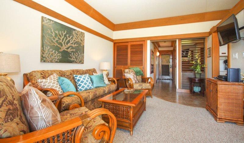 Living Room - Free mid-size car with Kiahuna 312 Lovely one bedroom at Kiahuna Plantation - Poipu - rentals