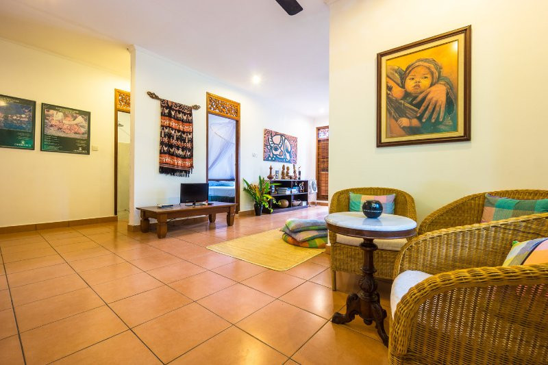Living Room - Three Bedroom Javanese Cottage with Seaview - Mataram - rentals