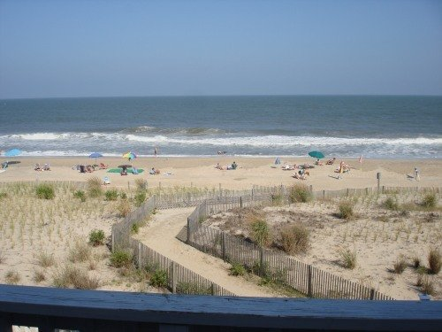 Ocean Front view - Ocean Front Townhome on 78th St in Ocean City, MD - Ocean City - rentals