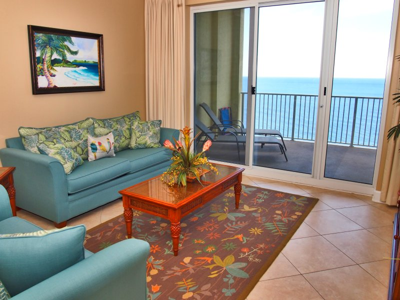 Beachfront 2 Bedroom at Ocean Reef with Free Beach Service - Image 1 - Panama City Beach - rentals