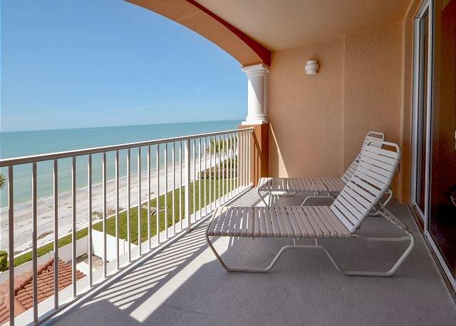 View From The Balcony - La Contessa 307- 3 BR Gulf Front Condo - HDTV, Internet, Free Long Distance! - Redington Beach - rentals