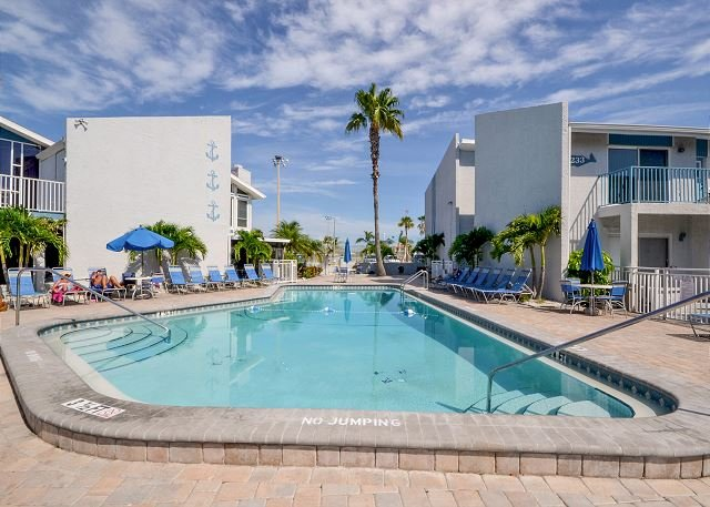 Madeira Beach Yacht Club Main Pool - Madeira Beach Yacht Club 261D - Waterfront Condo Newly Refreshed in 2013! - Madeira Beach - rentals