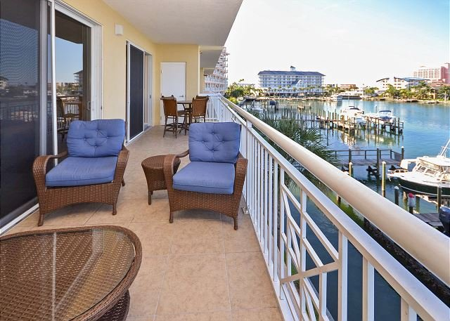 Balcony Views - Bay Harbor 303 - Gorgeous 3rd Floor 3 BR Condo with Great Balcony and Views! - Clearwater Beach - rentals