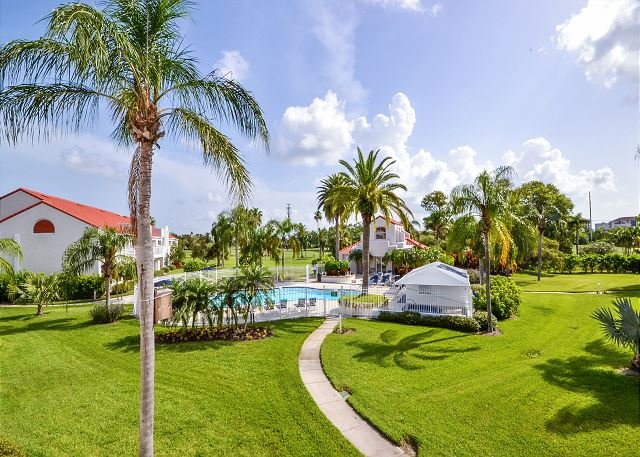 View from Balcony of the Pool - Isla Del Sol - Vista Verde East 6-247 Gorgeous 2nd Floor, Pool View Condo! - Saint Petersburg - rentals