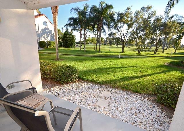 View from Patio - Vista Verde East 4-129 1st Floor Isla Condo - Spectacular Golf Course View! - Saint Petersburg - rentals