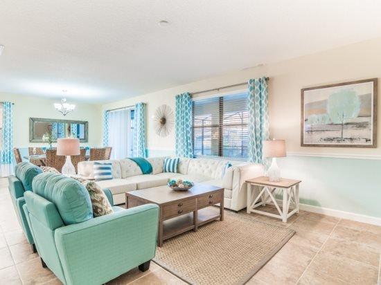 Stylish 5 Bedroom 4.5 Bath Pool Home in ChampionsGate Golf Resort. 1463BTR - Image 1 - Four Corners - rentals