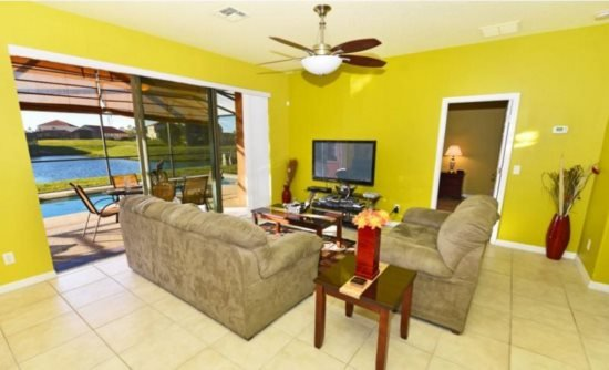 5 Bedroom 4.5 BathPool Home with Lake View in Avaiana Resort. 109MJL - Image 1 - Davenport - rentals