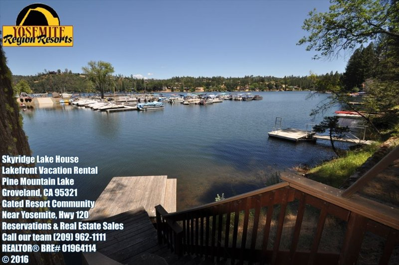 Private dock. Skyridge Lake House, Pine Mountain Lake Lakefront Vacation Rental Unit 15 Lot 120 - Lakefront 6Bdrms Slps13 Max15 Dock WIFI NrYosemite - Groveland - rentals