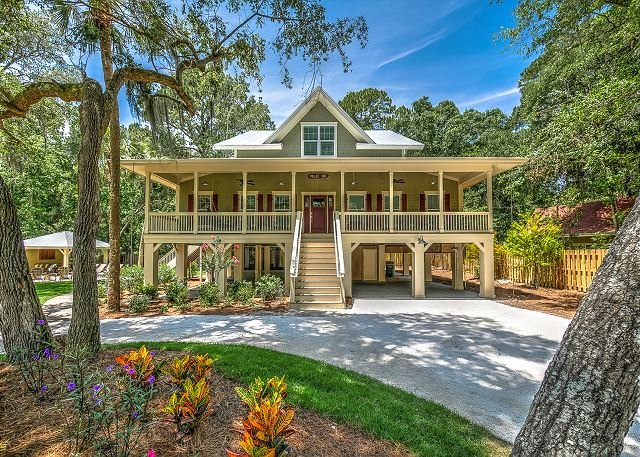 Exterior - 5B Hickory Ln - Brand New Beach Home 300 yards to beach - Hilton Head - rentals