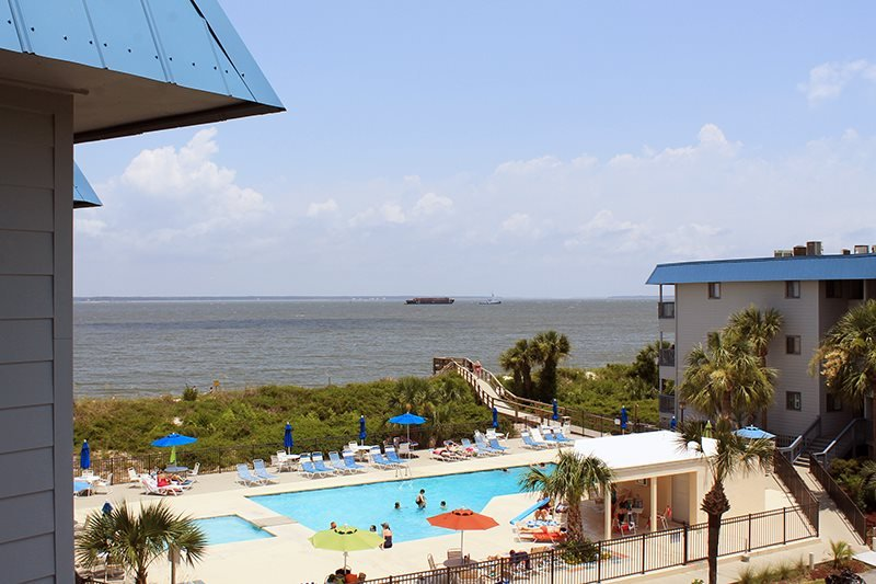 Savannah Beach & Racquet Club Condos - Unit B319 - Water View - Swimming Pool - Tennis - Image 1 - Tybee Island - rentals