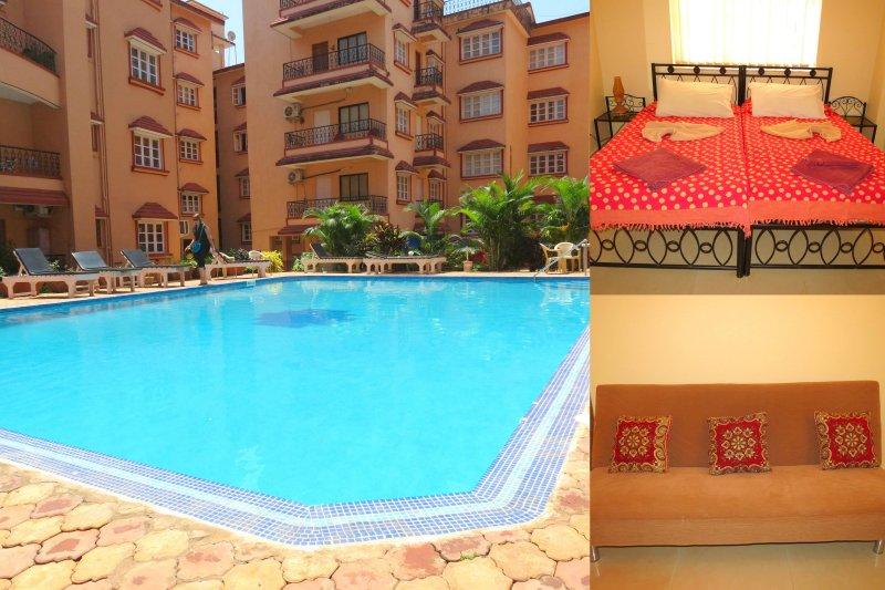 41) 1 Bed Apartment Calangute Sleeps 2/4 - Image 1 - Calangute - rentals