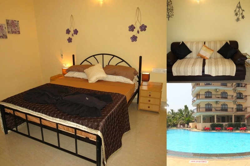 01) 1 Bed Apartment, Nazri Resort, Baga & WiFi - Image 1 - Baga - rentals