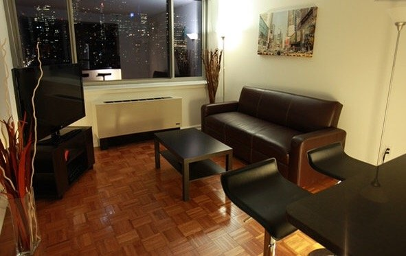 Livingroom - 1BR APT - Spectacular view near Times SQ! - New York City - rentals