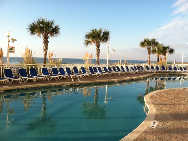 Outdoor Pool at Building #1 - Oceanfront Condo @ Deluxe Resort - North Myrtle Beach - rentals