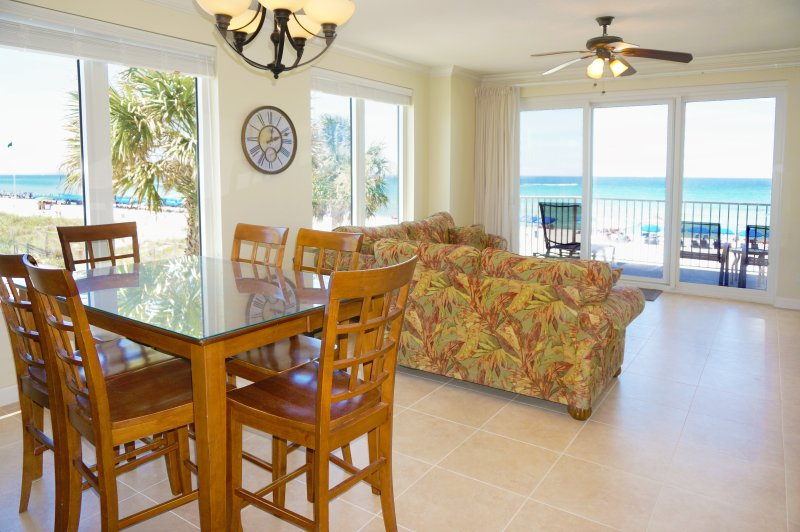 Larger 3 bedroom, 3 bath. Full beach view from windows and patio - 1st Floor * 2 MASTER SUITES * - Panama City Beach - rentals
