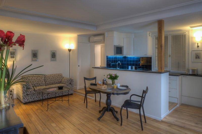 Living Room View One  - Saint Germain Enchanting One Bedroom - Paris - rentals