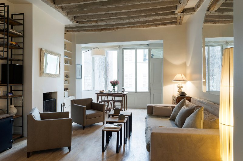 Living Room  - Saint Germain Cosy Two Bedroom - Paris - rentals