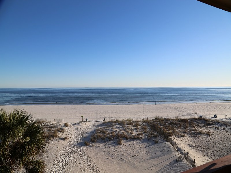 View from Private, Gulf Front Balcony - Southern Sands 306 - Walk to Town! - Gulf Shores - rentals