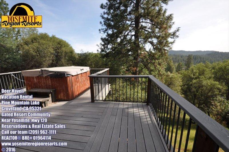 Large deck, mountain views, hot tub, pet friendly, Unit 3 Lot 98 Pine Mountain Lake pet friendly vacation rental, Deer Haven - HotTub Slps6 WIFI DogOK 1mi>Beach 25mi>Yosemite - Groveland - rentals